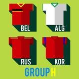 Fotbollslagskjorta royaltyfri illustrationer
