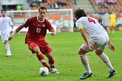 Fotbollsmatch. Royaltyfria Foton