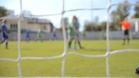 Fotbollsmatch stock video