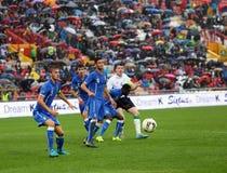 Fotbollsmatch mellan Italien och Republiken Irland Under-21 Royaltyfri Foto