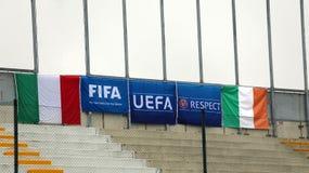 Fotbollsmatch mellan Italien och Republiken Irland Under-21 Royaltyfria Foton