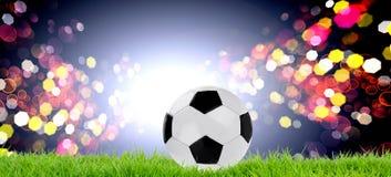 Fotbollsmatchbegrepp branschsportar arkivbilder