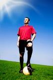 Fotbollspelare Fotografering för Bildbyråer