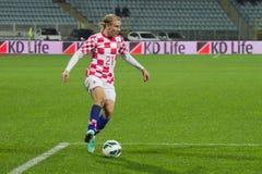 Fotbollspelare - Domagoj Vida royaltyfria foton