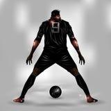 Fotbollspelare ordnar till för att skjuta Royaltyfri Fotografi