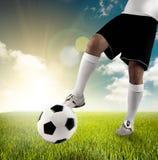 fotbollspelrum Arkivbild