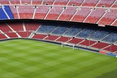 fotbollsplanfotboll Arkivbild