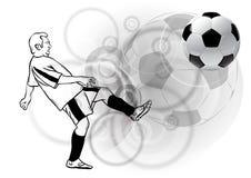 Fotbollsspelare royaltyfri illustrationer