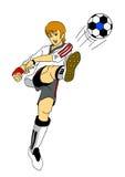 fotbollsspelare Vektor Illustrationer