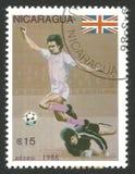 Fotbollsspelare av det brittiska laget royaltyfri foto