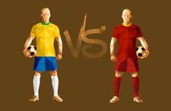 Fotbollsspelare för vektorillustrationfotboll vektor illustrationer
