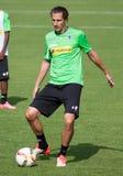 Fotbollsspelare Roul Brouwers i klänning av Borussia Monchengladbach Fotografering för Bildbyråer