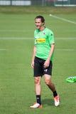 Fotbollsspelare Roul Brouwers i klänning av Borussia Monchengladbach Royaltyfri Fotografi