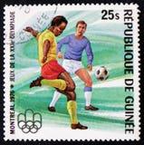 fotbollsspelare serieMontreal olympiska spel, circa 1976 Royaltyfri Foto