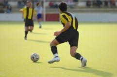fotbollsspelarefotboll Arkivfoton