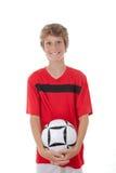 fotbollsspelarefotboll Royaltyfri Foto