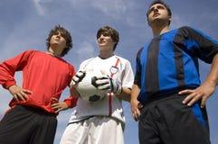 fotbollsspelarefotboll Royaltyfri Bild