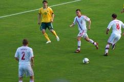 fotbollsspelareryss Fotografering för Bildbyråer