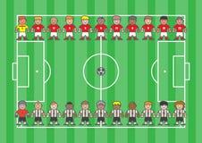 Fotbollsspelaretecknad film Fotografering för Bildbyråer