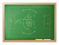 fotbollstrategi stock illustrationer