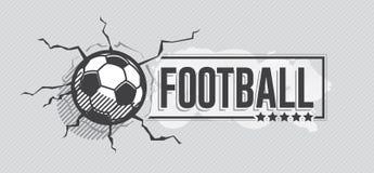 Fotbollsymbol och grunge, vattenfärgbakgrund stock illustrationer