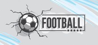 Fotbollsymbol och grunge, vattenfärgbakgrund royaltyfri illustrationer