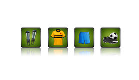 fotbollsymboler Royaltyfri Bild