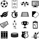 Fotbollsymboler Royaltyfri Fotografi