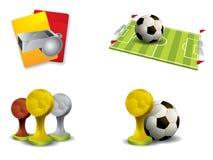 Fotbollsymbolsset Vektor Illustrationer