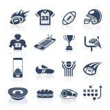 Fotbollsymbolsuppsättning vektor illustrationer
