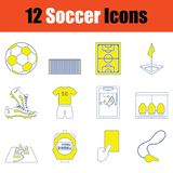 Fotbollsymbolsuppsättning arkivbilder