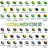 2104 fotbollturneringsymboler ställde in Brasilien, vektor Royaltyfri Bild