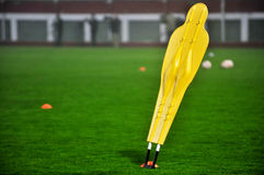 Fotbollutbildningsattrapp Arkivfoto
