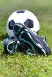 Fotbollutrustning Royaltyfri Foto