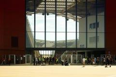 Fotbollvänskapsmatchlek FSV Mainz 05 Fotografering för Bildbyråer