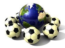 Fotbollvärld royaltyfri illustrationer
