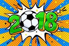 Fotbollvärldscup 2018 vektor illustrationer
