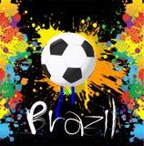 Fotbollvärldscup med målarfärgfärgstänkfärg Royaltyfri Fotografi