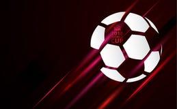 Fotbollvärldscupbakgrund 2018 med fotbollbollen Royaltyfria Bilder