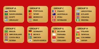 Fotbollvärldscupgrupper vektor illustrationer