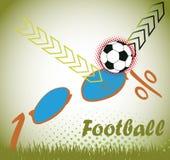 Fotbollverklighet Fotografering för Bildbyråer