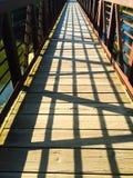 Fotbro med skuggor Arkivbilder