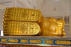 FotBuddha staty royaltyfri bild