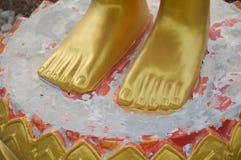 Fotbuddha staty Royaltyfria Bilder