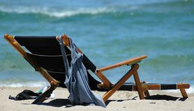 fotel na plaży Zdjęcie Royalty Free