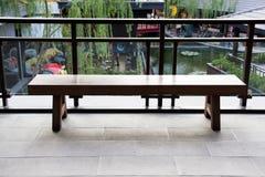 fotel ogrodowych drewna Zdjęcia Stock