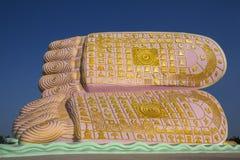 Foten av Buddha - Bago - Myanmar Royaltyfri Bild
