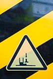 foten märker varning Fotografering för Bildbyråer