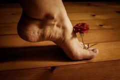Foten och steg Arkivfoto