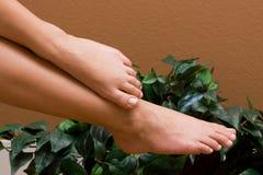 foten pedicured s-kvinnan royaltyfri fotografi